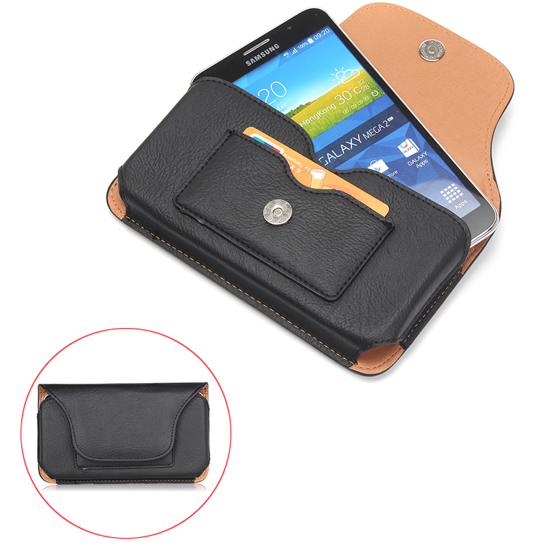 """Fashion Magnetic Horizontal Wallet PU Leather Case For xiaomi mi note 6.3"""" Below Shell Hook Loop Belt Pouch With Card Slots"""