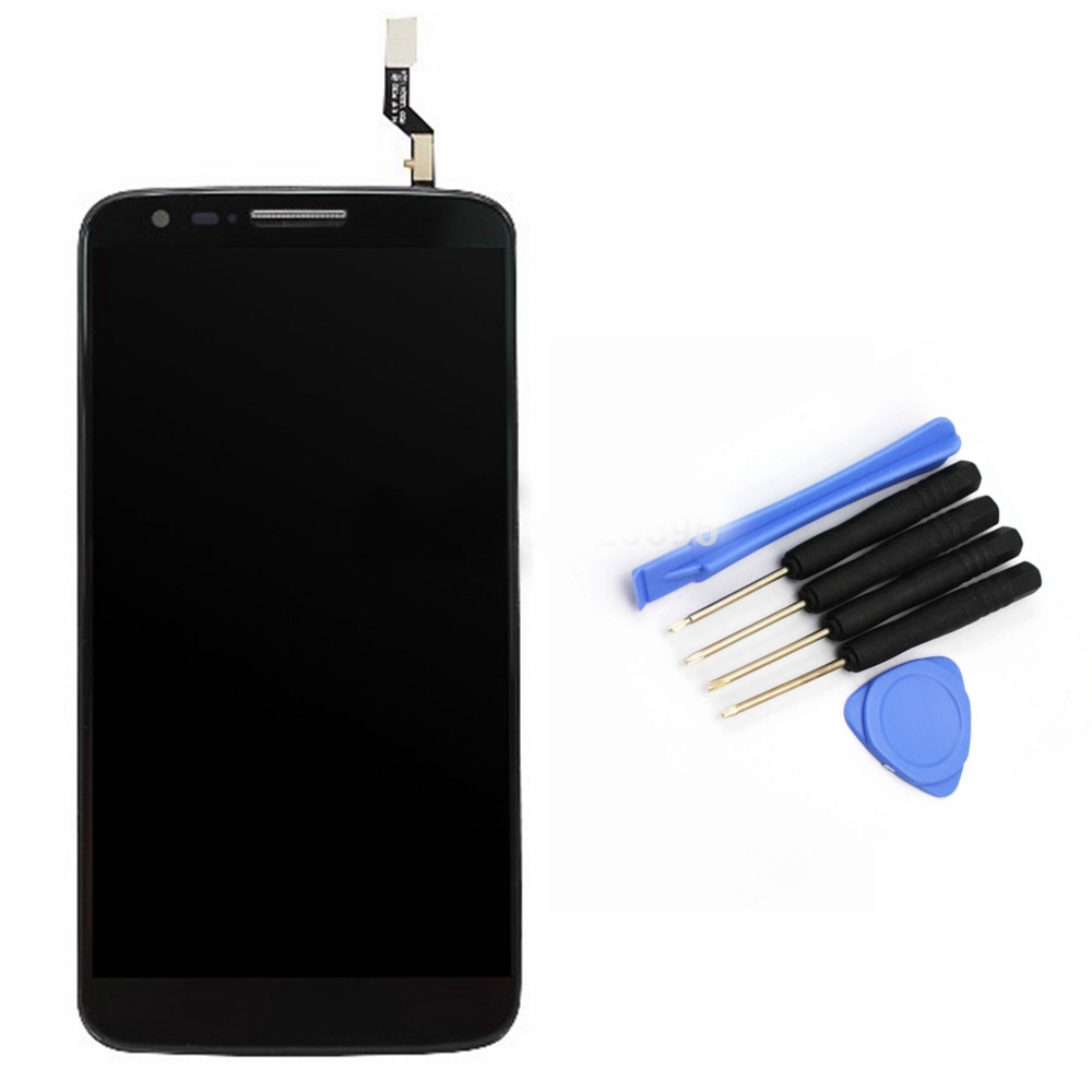 ФОТО For LG Optimus G2 D802 D805 LCD Touch Screen with Digitizer+Frame Bezel Full Assembly Replacement + Tools,Black Free shipping