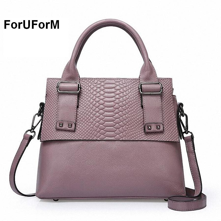 ФОТО ForUForM Genuine Leather Handbag For Women Luxury Shoulder Lady's Bag Genuine Leather Women Crocodile Bag Crossbody bag-SLI-261