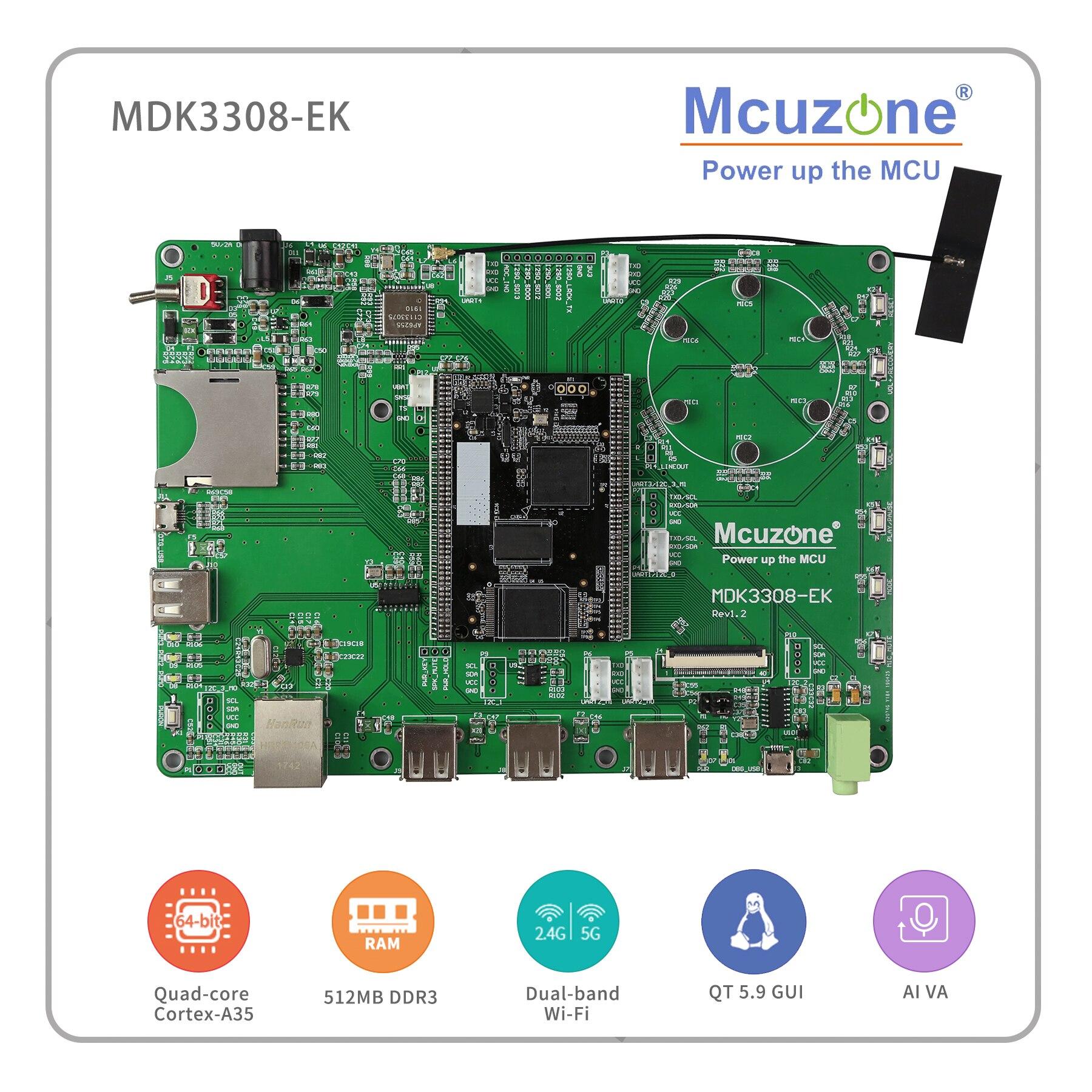 Rockchip RK3308 MDK3308 EK Quad core Cortex A35 up to 1 3GHz 512MB DDR3 3L 8GB
