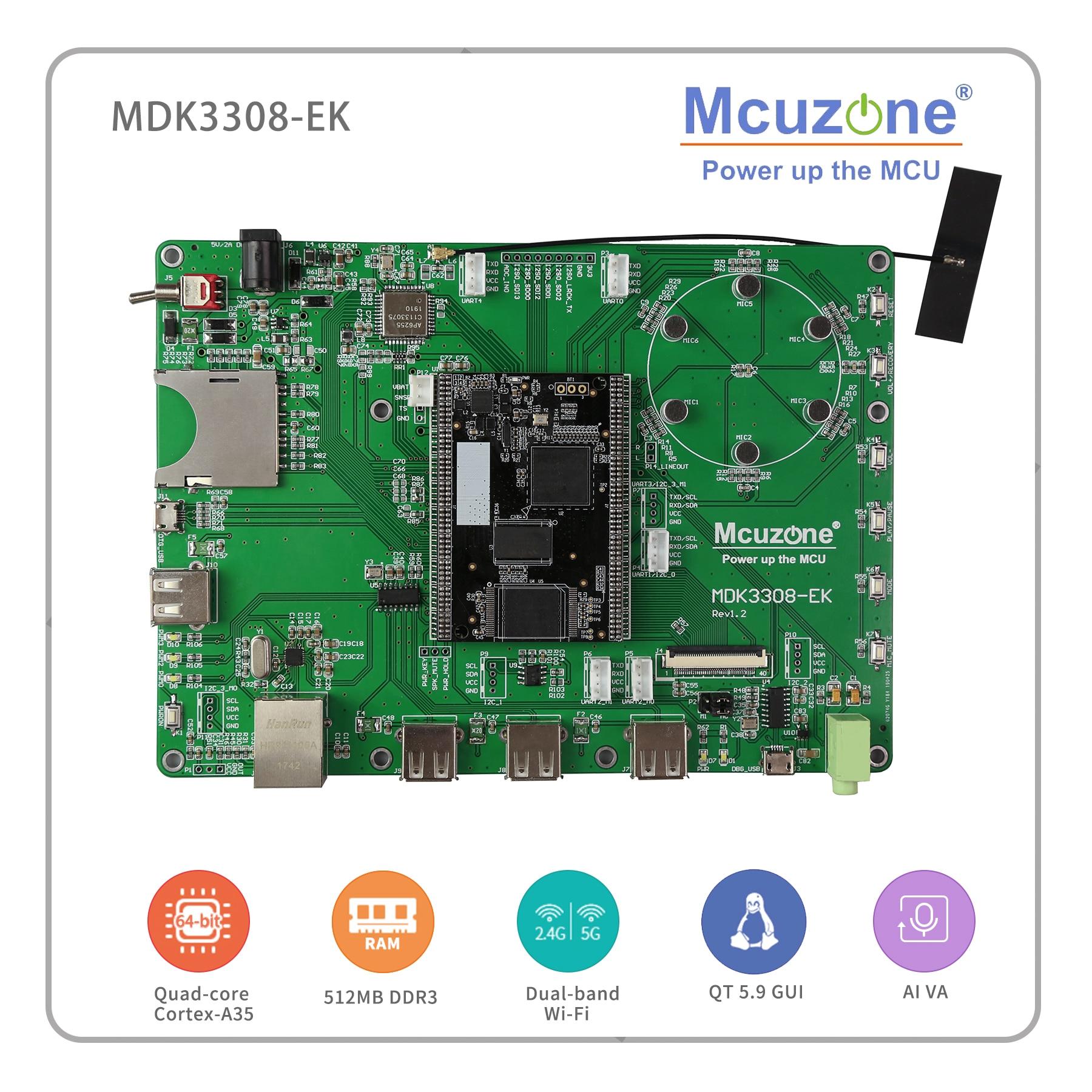 Rockchip RK3308 MDK3308 EK, Quad core Cortex A35 tot 1.3 GHz, 512MB DDR3/3L 8GB eMMC, AI VA 7LCD EC20 4G WIFI UVC Camera-in Demo bord van Computer & Kantoor op AliExpress - 11.11_Dubbel 11Vrijgezellendag 1