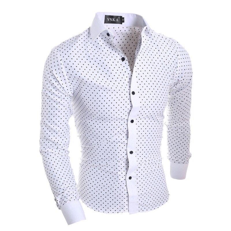 Men S Fashion Polka Dot Pattern Cufflink Dress Shirt Set Black And Brown