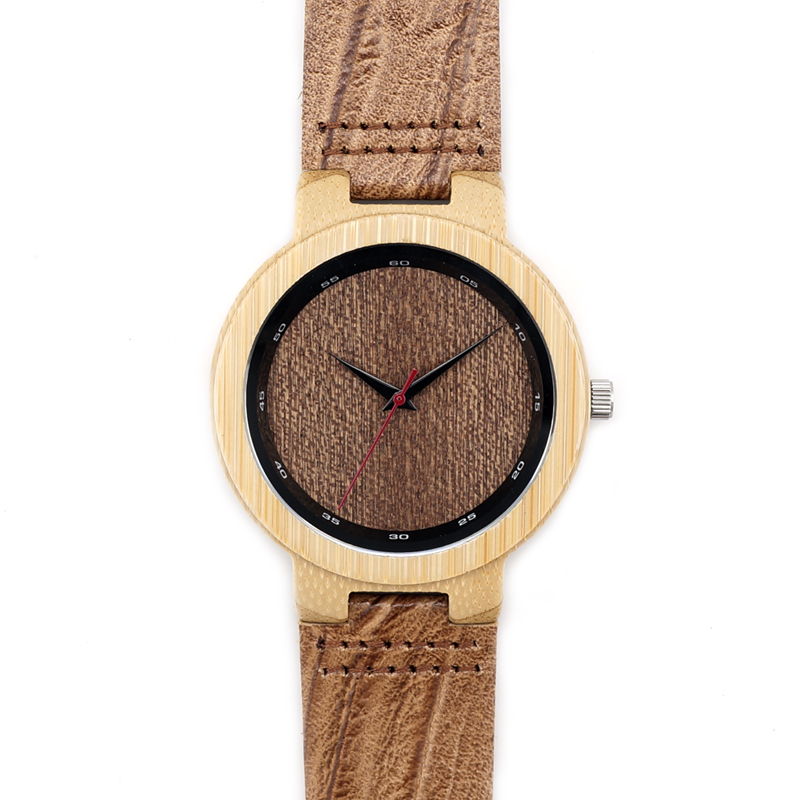 Factory Wholesale Wooden Men Watch Lady Wristwatch Fashion Gifts With Leather Strap Janpenese Movement