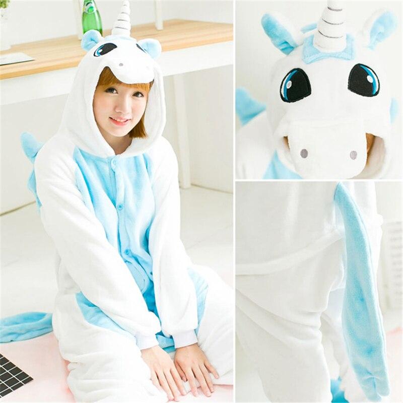 Зимняя Пижама для взрослых на Хэллоуин для женщин и мужчин фланелевые  пижамы с животными Пижама для косплея комплекты пижамы с капюшоном стежка  панда тигр ... 45a980c864038