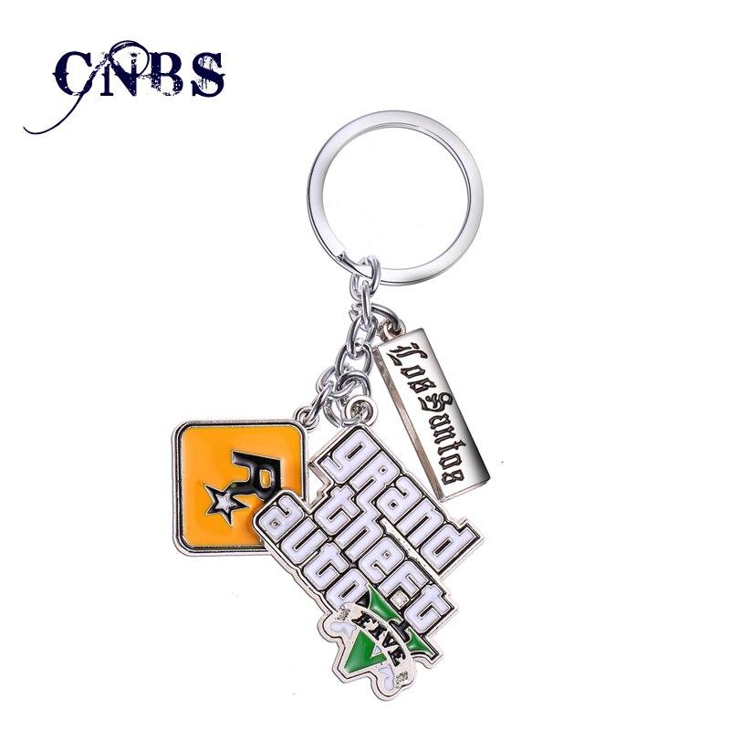 GTA5 Game Grand Theft Auto V Keychain Key Rings Holder For Car Chaveiro Key Chain Men Women Jewelry YS10856