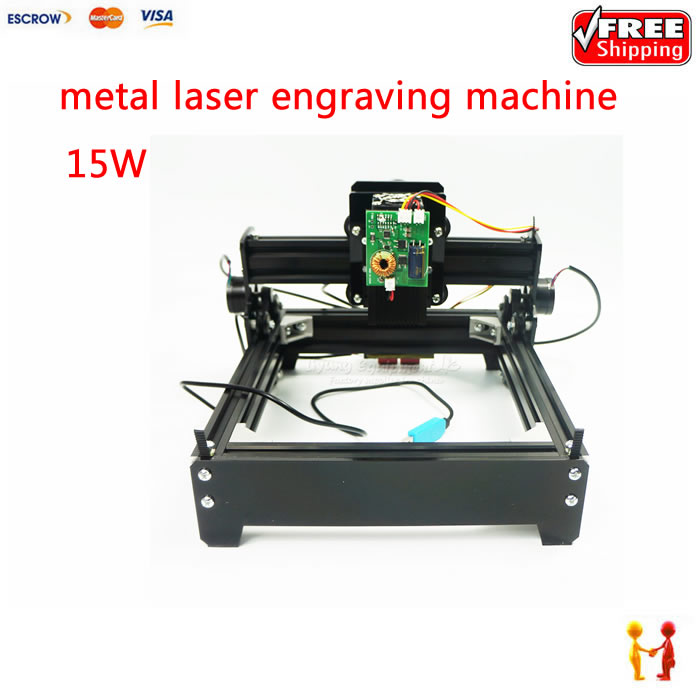 Assembled 15W laser cnc machine diy 20*14 metal iron engraving router with USB port best price cnc router 6090z vfd1 5kw engraving machine with cnc kits cnc machine assembled well already