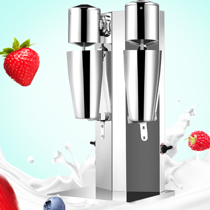 Professional Commercial Used Double Head Electric Stainless Steel Milkshake Machine
