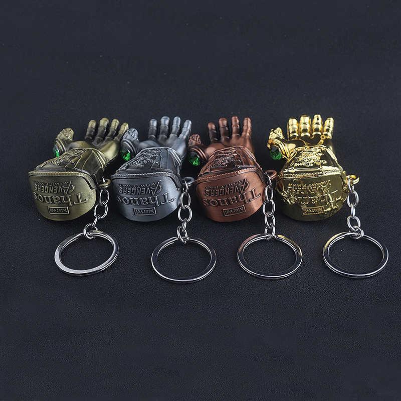 8 стиль Мстители 3 танос перчатки гаунтлет кристалл брелок Бесконечность войны ювелирные украшения с цепочкой металлические аксессуары брелок