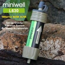 Miniwell Открытый Спорт Персональный фильтр для воды хорошо подходит для путешествий и альпинизма