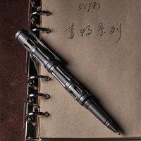 EDC Titanium alloy Self Defense survival Safety Tactical Pen Pencil With Writing Multi functional Tungsten Steel Head EDC