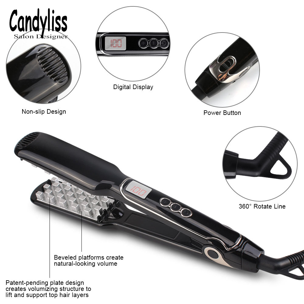 Corrugated Curling Hair Chapinha Hair Straightener Ceramics Crimper Fluffy Small Waves Hair Curlers Curling Irons Styling Tools