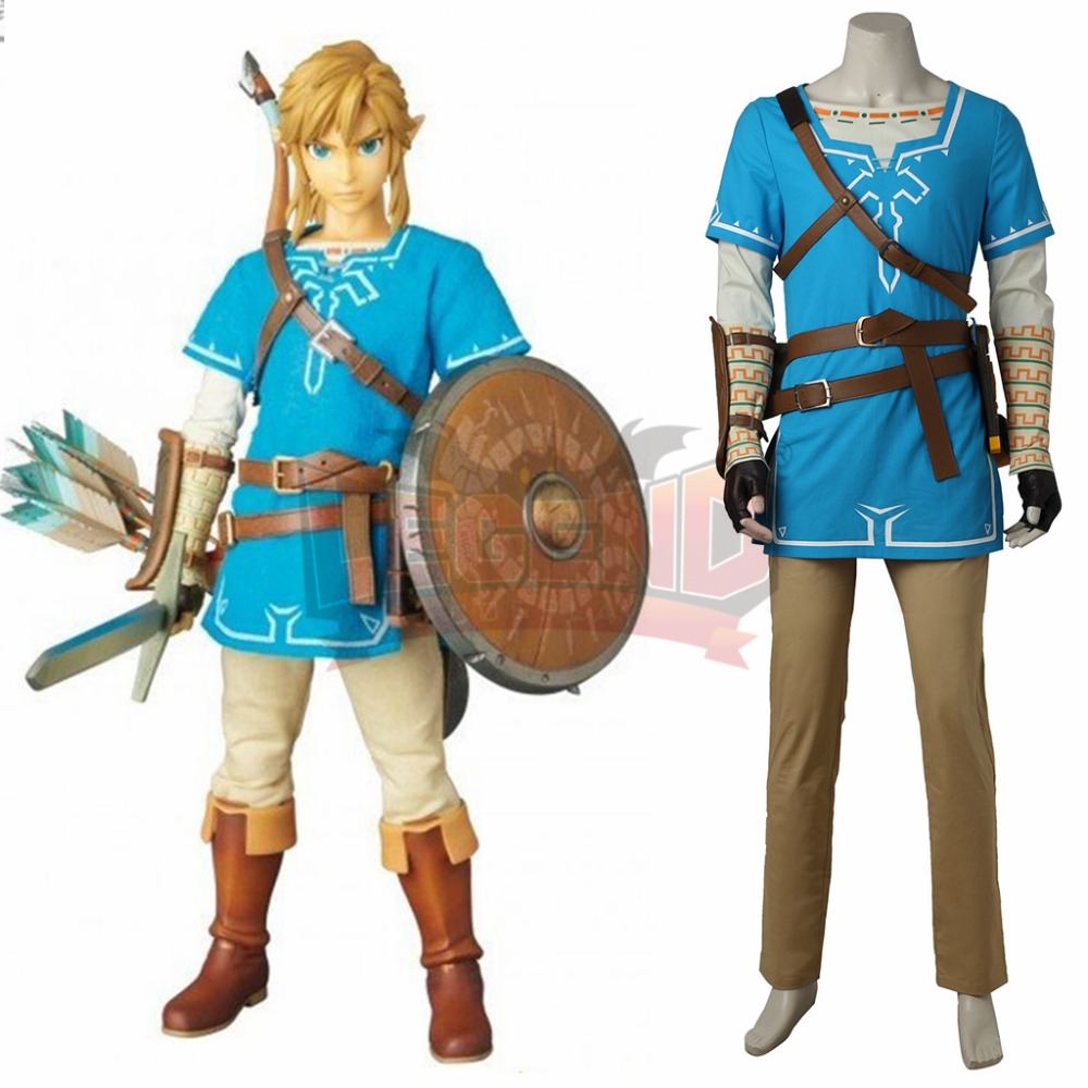 zelda breath of the wild The Legend of Zelda: Breath of the Wild Link Cosplay adult costume Custom Made full set
