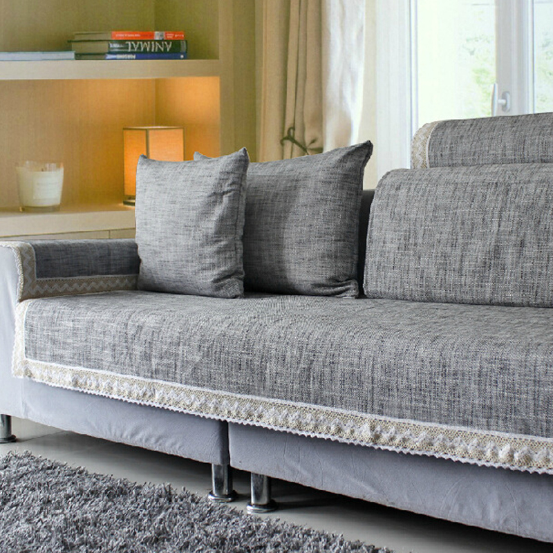 japan style chic grey sofa cover sofa cushion cotton linen fabric fashion four seasons available. Black Bedroom Furniture Sets. Home Design Ideas
