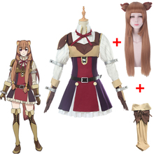 Anime The Rising of the Shield Hero Raphtalia Dress Tate no Yuusha Nariagari Halloween Cosplay Women Full Set with wig