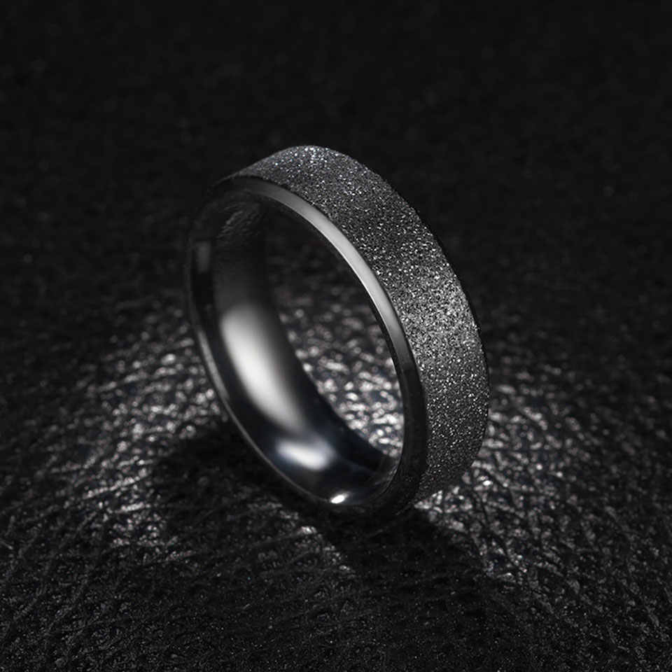 Rose Gold สแตนเลสสายรุ้งแหวนหญิงเครื่องประดับอินเทรนด์ Minimalist Blue สีสันความรักคู่ครบรอบ Aneis