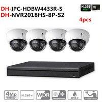 DH طقم كاميرا مراقبة NVR2108HS 8P S2 كاميرا IP IPC HDBW4433R S نظام الكاميرا للمراقبة P2P سهلة التركيب-في نظام مراقبة من الأمن والحماية على