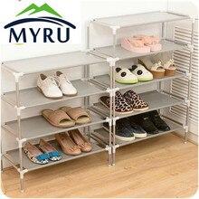 Тканых общежитие получать многослойных обувной корея стойки простой обуви нержавеющей многофункциональный