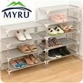 Wholesale stainless steel multi-function receive racks dormitory shoe Korea multilayer woven simple shoe rack