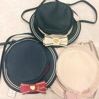 Japanese Lolita Style Swimmer Women Girls Hat Designer 3 Way Messenger Shoulder Bag Cross Body Bow Knot Day Pack Gift