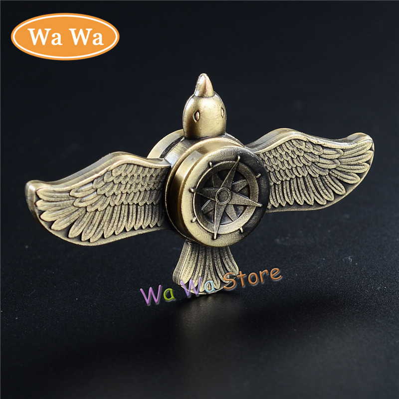 Eagle Fire Wheel EDC Fidget Spinner Metal Hand Spinner for Autism and ADHD Relief Focus Anxiety