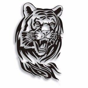 Image 1 - SLIVERYSEA 60 CM Tiger Xe Nhãn Dán cho Xe Toàn Bộ Cơ Thể Mui Xe Động Cơ Roaring Tiger Auto Sticker Không Thấm Nước cho tất cả các xe # B1125