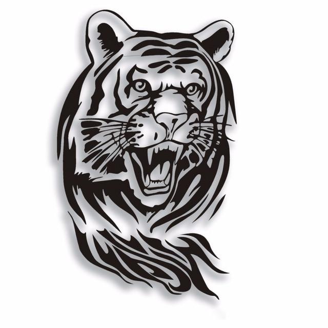 SLIVERYSEA 60 CM Tiger Xe Nhãn Dán cho Xe Toàn Bộ Cơ Thể Mui Xe Động Cơ Roaring Tiger Auto Sticker Không Thấm Nước cho tất cả các xe # B1125