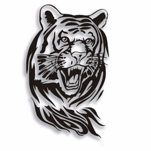 SLIVERYSEA 60CM Tiger Car Sticker for Car Whole Body Engine Hood Roaring Tiger Auto Sticker Waterproof for all cars #B1125