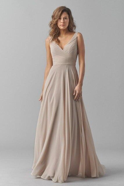 1572627082 Vestido de Festa longo Elegantes Moderno Vestido de Noche Largo Con Cuello  En V Plisado de
