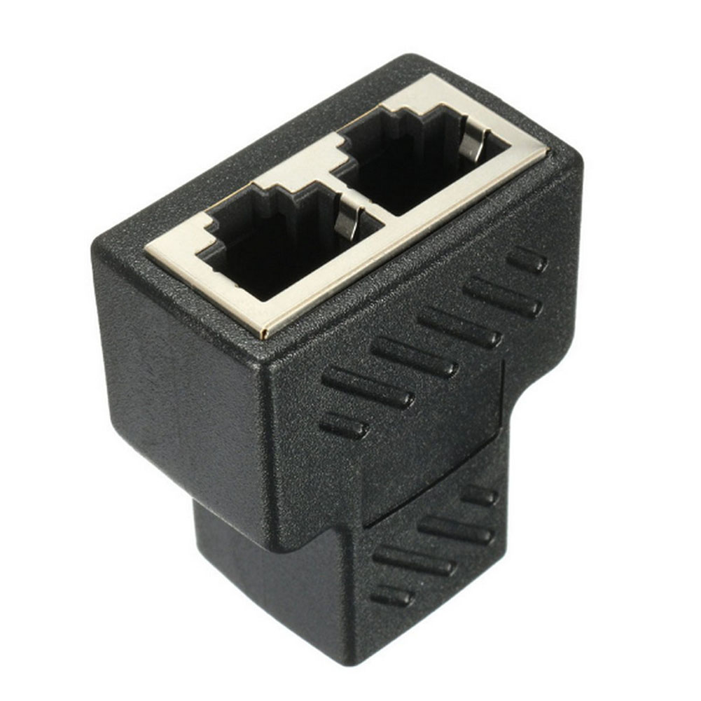RJ45 Splitter Connector,Ethernet cable Socket Adapter 8P8C Network,1Pack network socket hr 911105 c brand new goods in stock network transformer 59 8 p 8 c bring lamp bring shrapnel rj 45