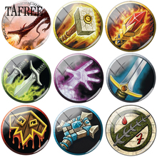 TAFREE Hand Dragon Sword Picture 12mm - 20mm Glass Beads Cabochon Dome Pendant Settings Jewelry