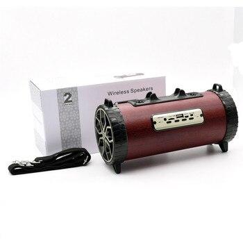 Makescc XM-2  New Portable Wooden Wireless Speaker 3D HiFi Stereo Retro Dual Loudpeaker New Fashion Drop Shipping
