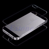Premium Real Tempered Glass Front+Back Film Screen Protector For iPhone 5S 5 #K400Y# DropShip