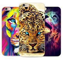 2016 Moda Cheetah Animal Dos Desenhos Animados Macio Tpu Tampa Traseira Para caso de telefone apple iphone 6 6 s leão domineering tiger pattern Coque
