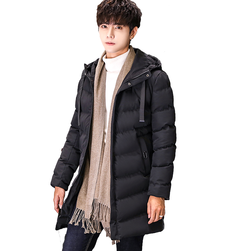 Maoxianlong Winter Jacket Males Medium Size Hoodie Thickened Cotton Padded Coat 2018