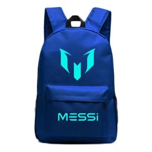 Image 5 - Messi sac à dos lumineux de nuit, sacoche de voyage barcelone, pour garçons et filles, pour enfants et adolescents