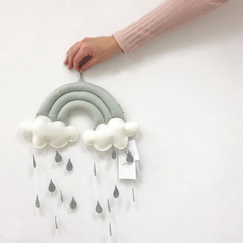 Cloud Raindrop Wall Decor Baby Soft Toy Doll Children Room Decoration Wall Hanging Plush Toys Cute Crib Decor Newborn Girl Boy super cute plush toy dog doll as a christmas gift for children s home decoration 20
