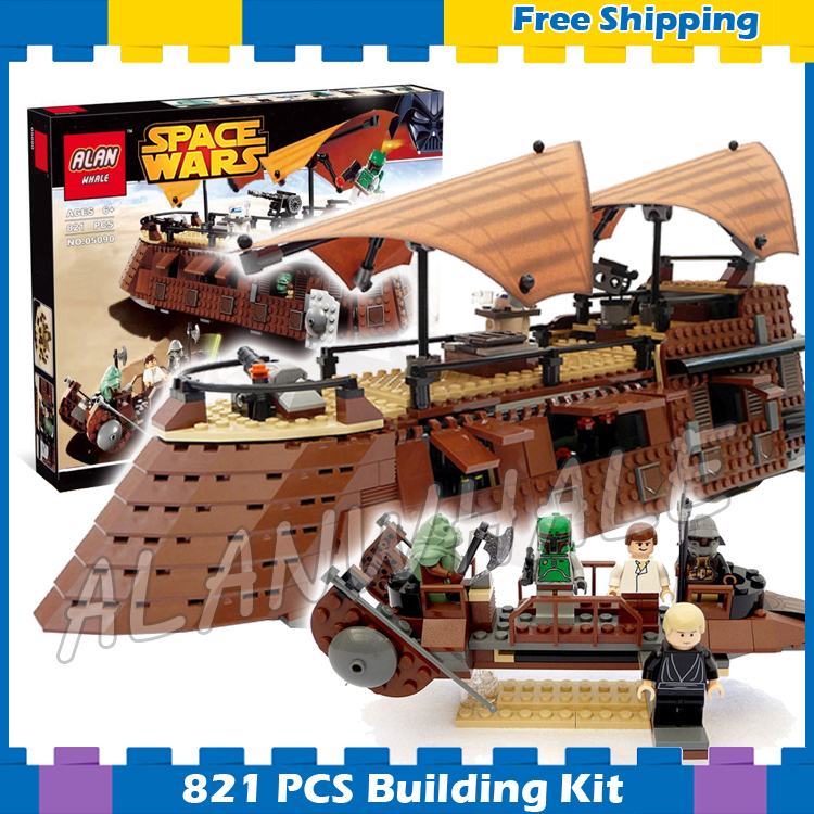 821pcs Space Wars Jabbas Sail Battleship Desert skiff 05090 Model Building Blocks Assemble Gifts Sets Game Compatible With Lego