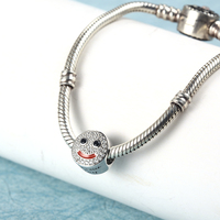RainMarch Fits Pandora Charms Bracelets Original 925 Silver 2019 Smiley Beads Wholesale Bead Women Jewelry Making Dropshipping