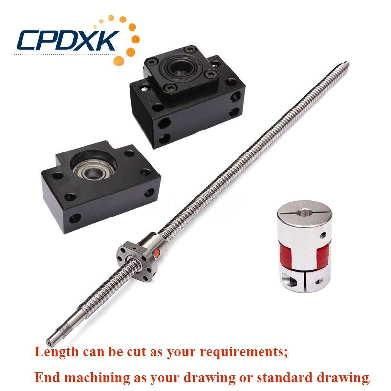 CNC Parts Accessories Ballscrew 2005 End Machined Ball nut SFU2005 Ball Screw Supporter BK BF15 coupler