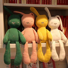 1pcs new cartoon plush rabbit toy boy girl appease doll newborn comforting stuffed soft baby cute 5 colors suitable for 0M+