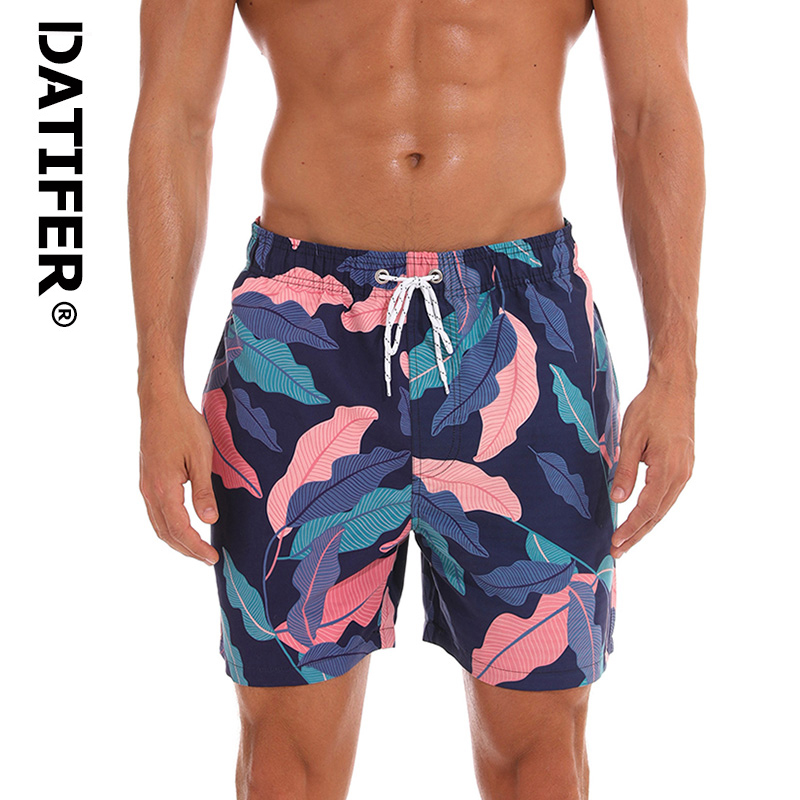 2019   Shorts   Quick Dry Man   Board     Shorts   Datifer Brand ES5W Plus Size Beach Wear Bermuda Briefs For Men Swimwear