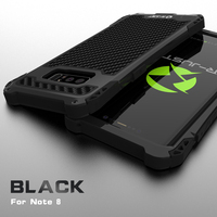 Note 8 Case Luxury Doom Armor Dirt Shock 3proof Metal Carbon Fibre Phone Case For Samsung