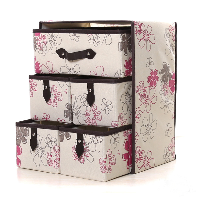 3Layer 5Drawer Underwear Bra Organizer Storage Box Drawer Closet Classified Sundries Organizers For Underwear Scarf Socks