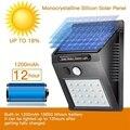 20/48 светодиодная Солнечная энергия PIR датчик движения настенный светильник светодиодный наружный водонепроницаемый энергосберегающий дво...