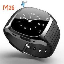 New Smartwatch M26 Sport Bluetooth Smart Uhr mit LED Alitmeter Musik-player Schrittzähler für Android Smartphone