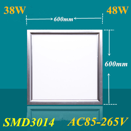 10pcs AC 85 260V ultra thin flat led panel light 600x600 38W 48W office down light