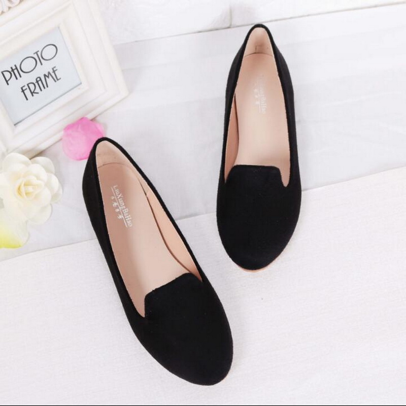 Women Flat Shoes Spring Summer Ballet Flats Shoes Slip On Women Moccains Casual Loafers Shallow Boat Shoes Size 31-44