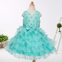 Cô gái Kim Cương Lớp Váy Toddler Girl Wedding Công Chúa Birthday Party Dresses Pageant Frcoks trang phục Cho 2 4 6 8 10 năm