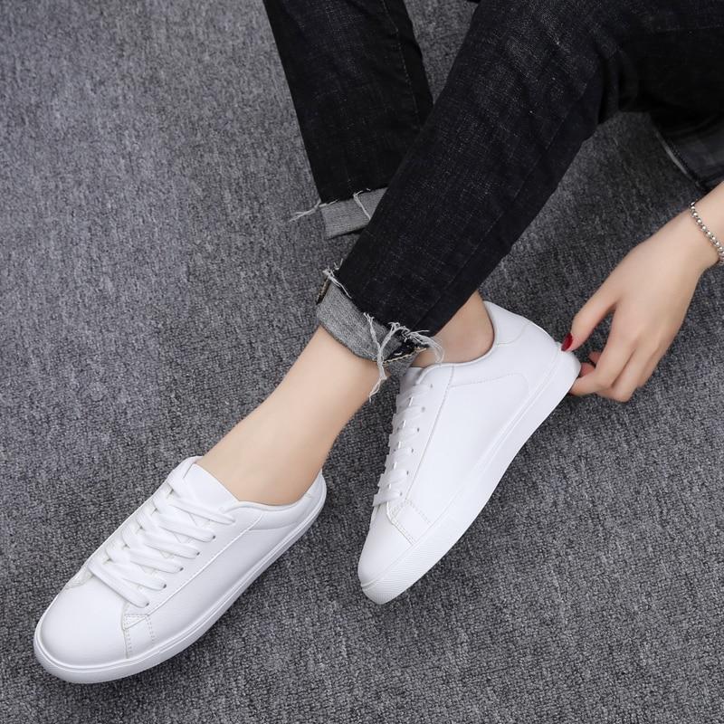 Automne Appartements Kilobili Kl 9867 i Blanc Sneakers Pour Plat Femmes Vulcaniser 2018 Chaussures White Dames Lacent Les Oxford Casual traq5aU