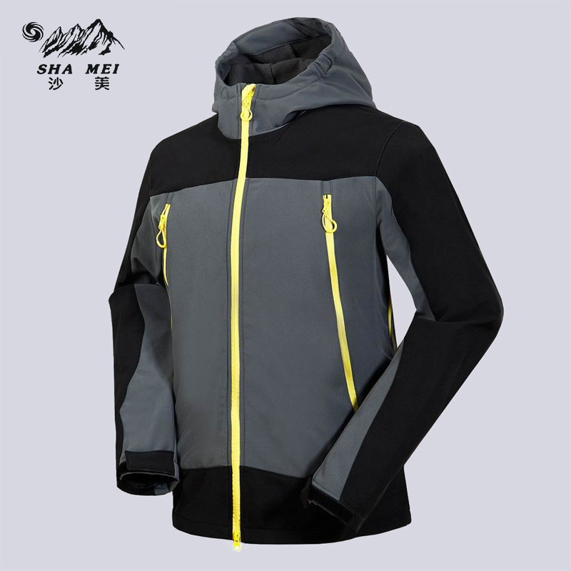 все цены на Men Waterproof Windproof Polar Fleece Jackets Camping Rain Jacket Hiking Coat Hi-Q Men's Winter Softshell Outdoor 2017 онлайн